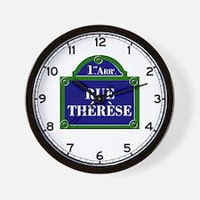 Rue Thérèse, Paris - France Wall Clock