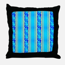 Hawaiian Honu Surf Stripes Throw Pillow