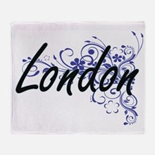 London Artistic Name Design with Flo Throw Blanket