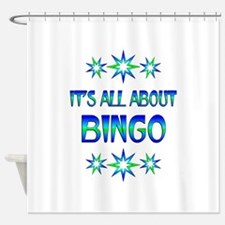 All About Bingo Shower Curtain