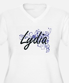 Lydia Artistic Name Design with Plus Size T-Shirt