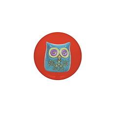 Toy Modern Owl Art Mini Button