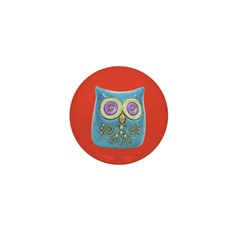 Toy Modern Owl Art Mini Button
