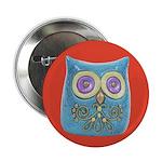 Toy Modern Owl Art Button