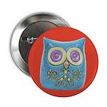 """Toy Modern Owl Art 2.25"""" Button (10 pack)"""