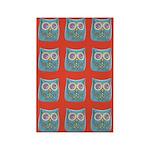Toy Modern Owl Art Rectangle Magnet (10 pack)
