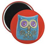 """Toy Modern Owl Art 2.25"""" Magnet (10 pack)"""