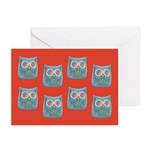 Toy Modern Owl Art Greeting Cards (Pk of 20)