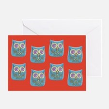 Toy Modern Owl Art Greeting Card