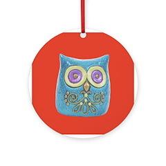 Toy Modern Owl Art Ornament (Round)