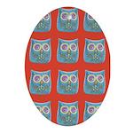 Toy Modern Owl Art Oval Ornament