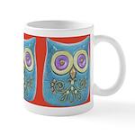 Toy Modern Owl Art Ceramic Coffee Mug