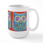 Toy Modern Owl Art Large Mug (15 oz)