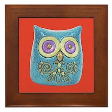 Toy Modern Owl Art Framed Tile