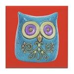 Toy Modern Owl Art Tile Drink Coaster
