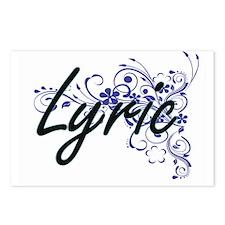 Lyric Artistic Name Desig Postcards (Package of 8)