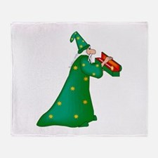Green witch Throw Blanket