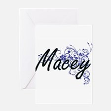 Macey Artistic Name Design with Flo Greeting Cards