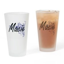 Macie Artistic Name Design with Flo Drinking Glass