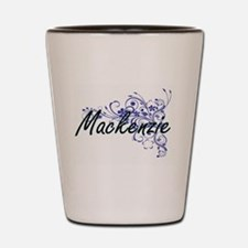 Mackenzie Artistic Name Design with Flo Shot Glass