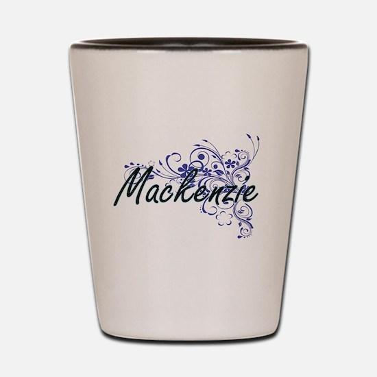 Mackenzie Artistic Name Design with Flo Shot Glass