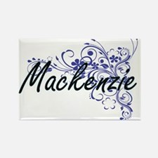 Mackenzie Artistic Name Design with Flower Magnets