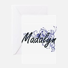 Madalyn Artistic Name Design with F Greeting Cards