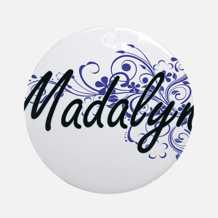 Madalyn Artistic Name Design with F Round Ornament