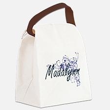 Madalynn Artistic Name Design wit Canvas Lunch Bag