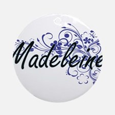 Madeleine Artistic Name Design with Round Ornament