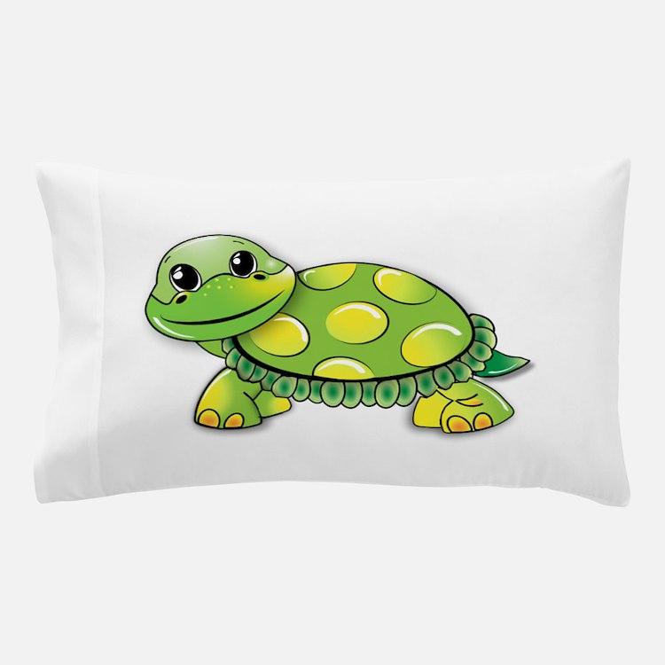 Cute Turtle man Pillow Case