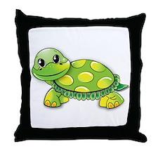 Cute Turtle man Throw Pillow