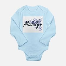 Madelyn Artistic Name Design with Flower Body Suit