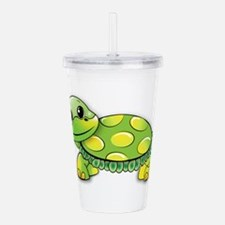 Cute Turtle man Acrylic Double-wall Tumbler