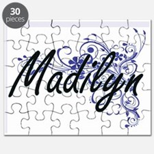 Madilyn Artistic Name Design with Flowers Puzzle
