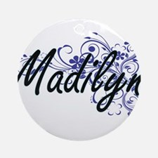 Madilyn Artistic Name Design with F Round Ornament