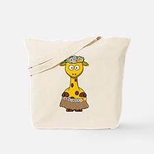 Cute Hula Giraffe Cartoon Tote Bag