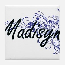Madisyn Artistic Name Design with Flo Tile Coaster