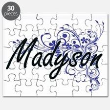 Madyson Artistic Name Design with Flowers Puzzle