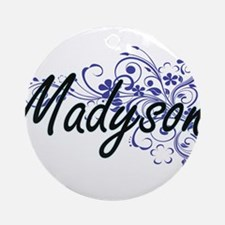 Madyson Artistic Name Design with F Round Ornament