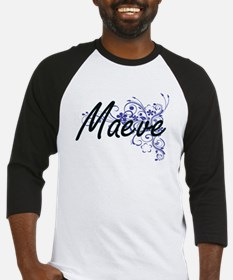 Maeve Artistic Name Design with Fl Baseball Jersey