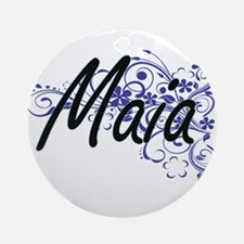 Maia Artistic Name Design with Flow Round Ornament