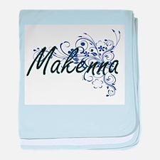 Makenna Artistic Name Design with Flo baby blanket