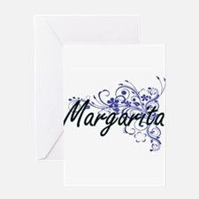 Margarita Artistic Name Design with Greeting Cards