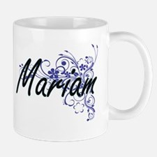 Mariam Artistic Name Design with Flowers Mugs