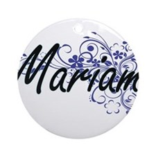 Mariam Artistic Name Design with Fl Round Ornament
