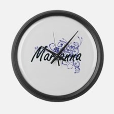 Marianna Artistic Name Design wit Large Wall Clock