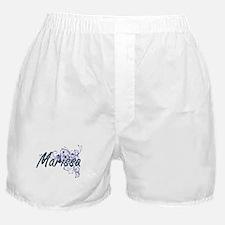 Marissa Artistic Name Design with Flo Boxer Shorts