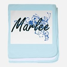 Marlee Artistic Name Design with Flow baby blanket