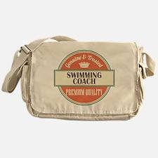 swimming coach vintage logo Messenger Bag